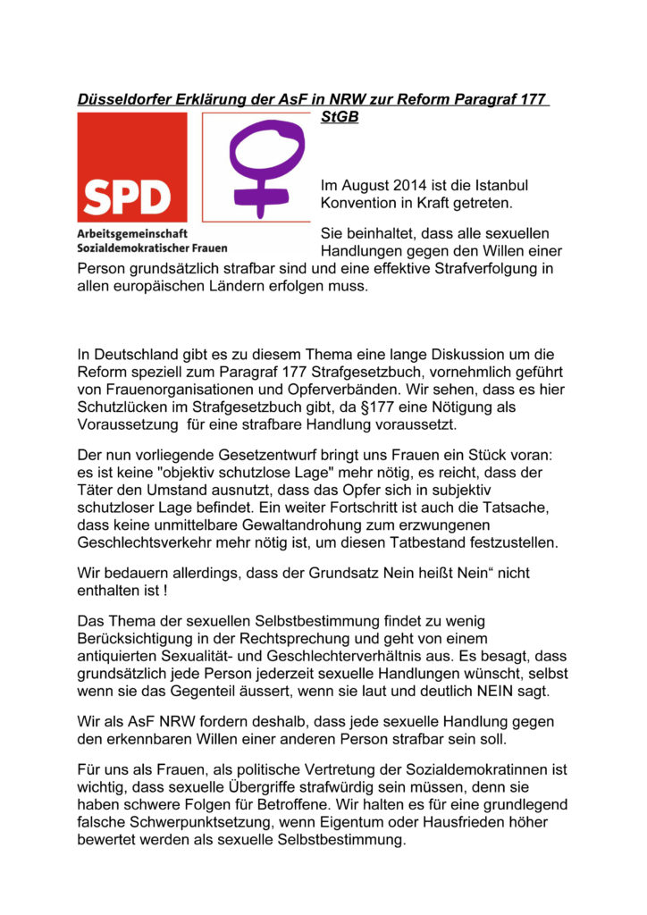 2016_04_30_Düsseldorfer Erklärung §177-1